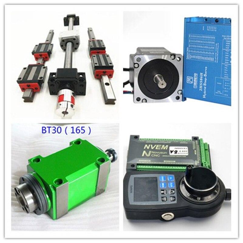 Ball screws SFU2505/2005/1605 +9sets motor+2 MPGhandle wheel+2 pc nvem controlle+BT30 milling+bellow+ Turret CNC+PUMP+ SENSOR