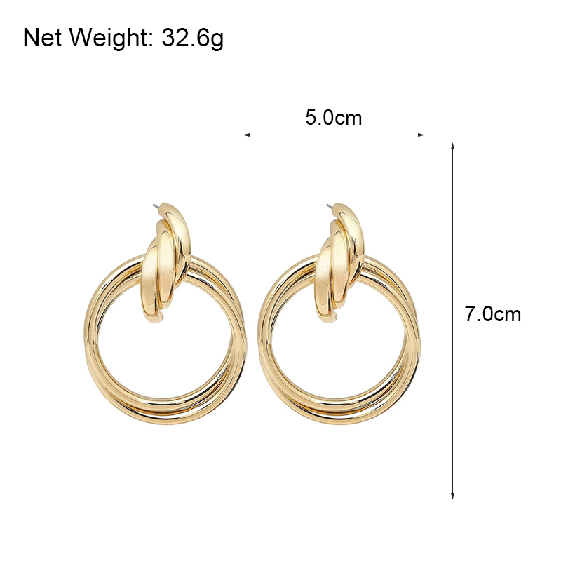 Flashbuy Oversized Hollow Round Alloy Drop Earrings For Women Geometry Alloy Earrings Wedding Pendientes Party Jewelry in Drop Earrings from Jewelry Accessories