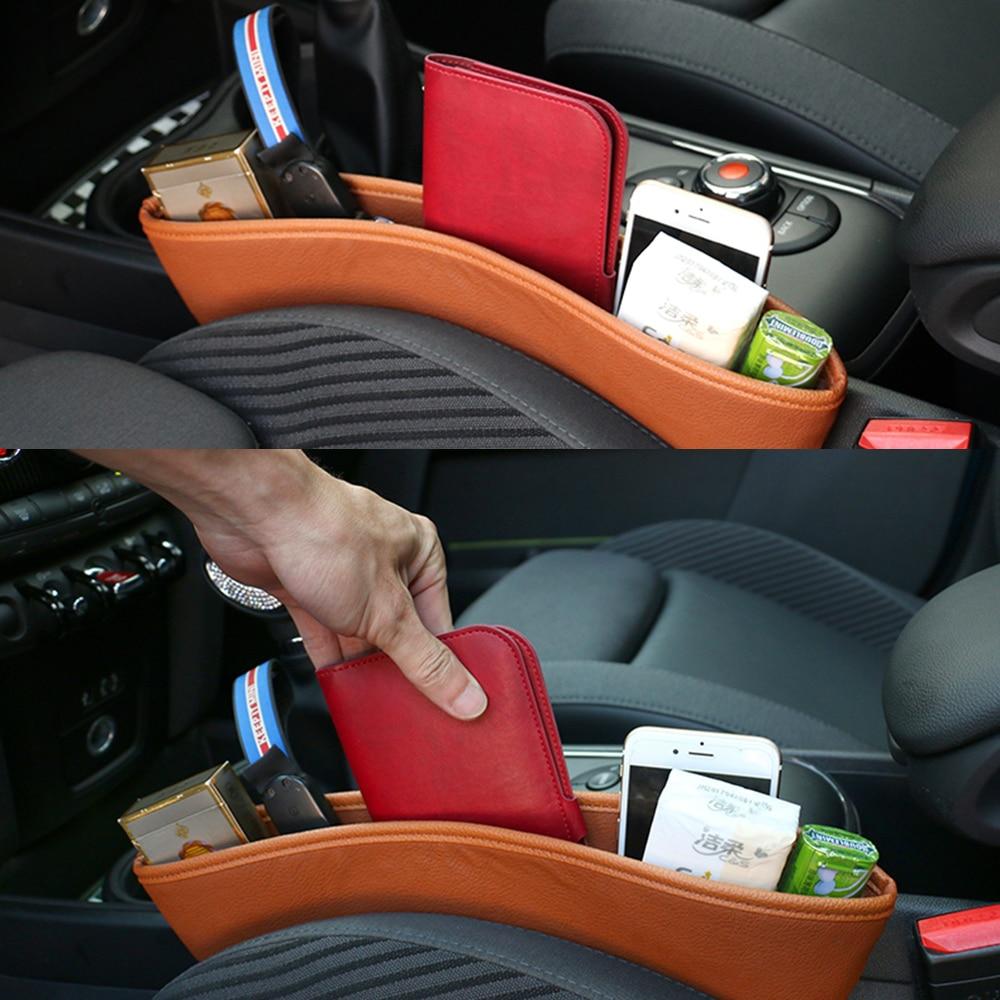 1pcs Car Seat Gap Anti-Leak Pocket Storage Bags For Mini Cooper One D JCW Countryman Clubman F55 F56 F60 R56 R60 R61 Accessories