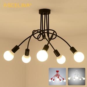 Image 3 - Скандинавская люстра в стиле лофт, винтажная потолочная лампа В индустриальном стиле, люстра со сгибающейся индивидуальностью для дома и магазина, паук chande
