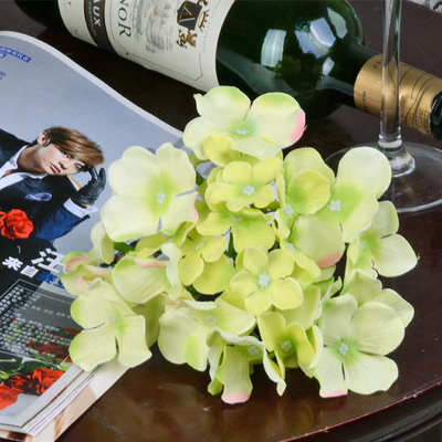 100PCS Single hydrangea artificial flower silk flower hair accessory DIY flower wedding road cited flower props