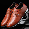British Style Men's Flats Shoes 2017 Lace up Breathable Synthetic Leather Shoes Men Casual Shoe Moccasins Male