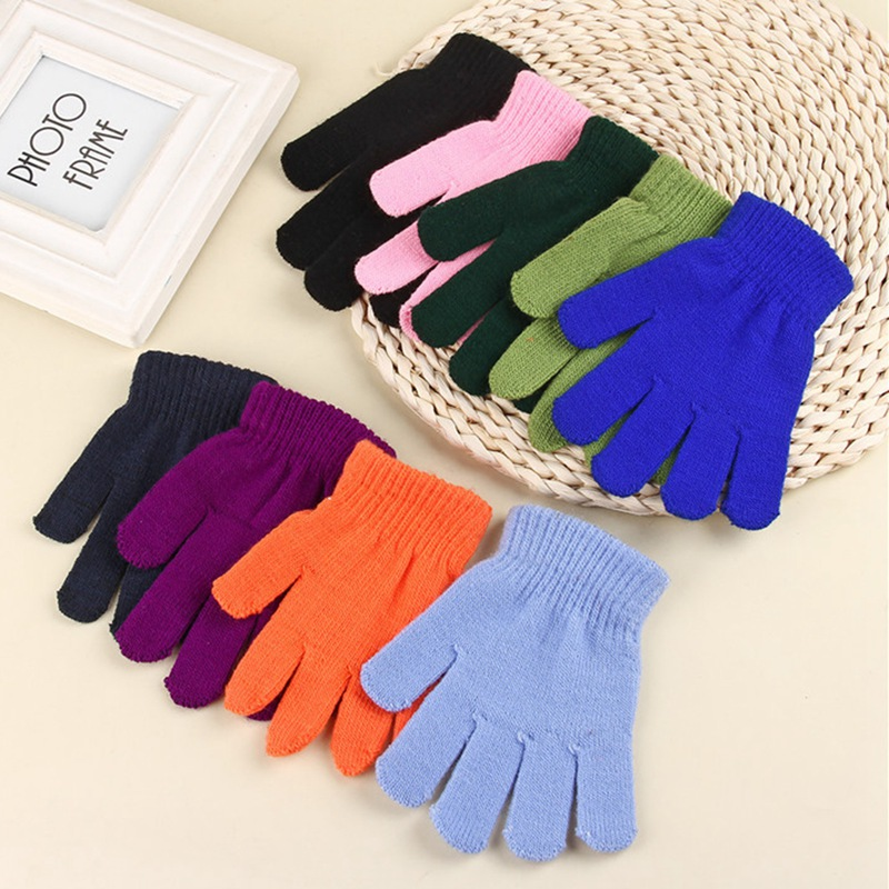 Maylisacc Heißer Kinder Winter Warme Gestrickte Handschuhe Voll-finger Handschuhe Für 4-8 Jahre Alten Jungen Mädchen Im Freien Sport Skating Handschuhe Accessoires