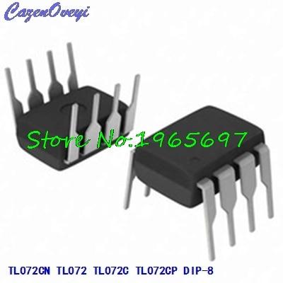 10pcs/lot TL072CN TL072 TL072C TL072CP DIP-8 = NJM072D 072D New Original In Stock