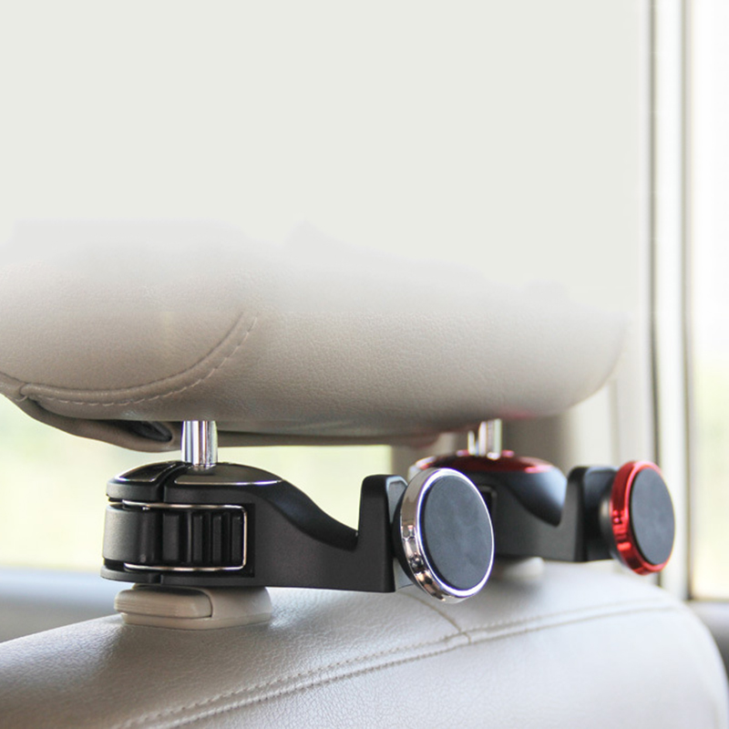Multi function Car Rear Seat Hook Universal Mobile Phone Holder Magnetic Mount Stand For iPhone 6 7 8 xiaomi Smartphone Support in Phone Holders Stands from Cellphones Telecommunications