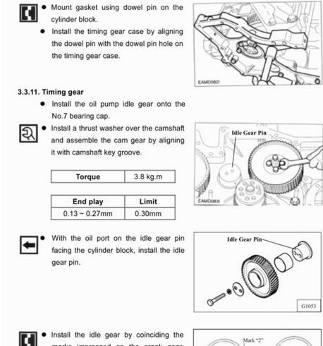 daios doosan diesel engines service manual  maintenance