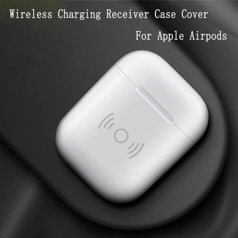 Qi Wireless Charger Receiver Charging Headset Smart Cover Case For Apple Airpods Headphones Intelligent charging box