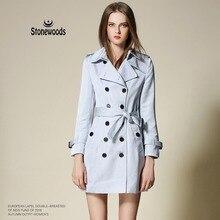 Coat For Women Leisure Spring Burderry Windbreaker Runway Women's Coats Long Fashion Duster Coat White