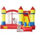 Yard dhl envío libre fantástico castillo hinchable con tobogán gorila inflable con ventilador de gran alcance para uso en el hogar para los niños del partido