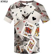 KYKU Brand Poker T shirt Playing Cards Clothes Gambling Shirts Las Vegas Tshirt Clothing Tops Men