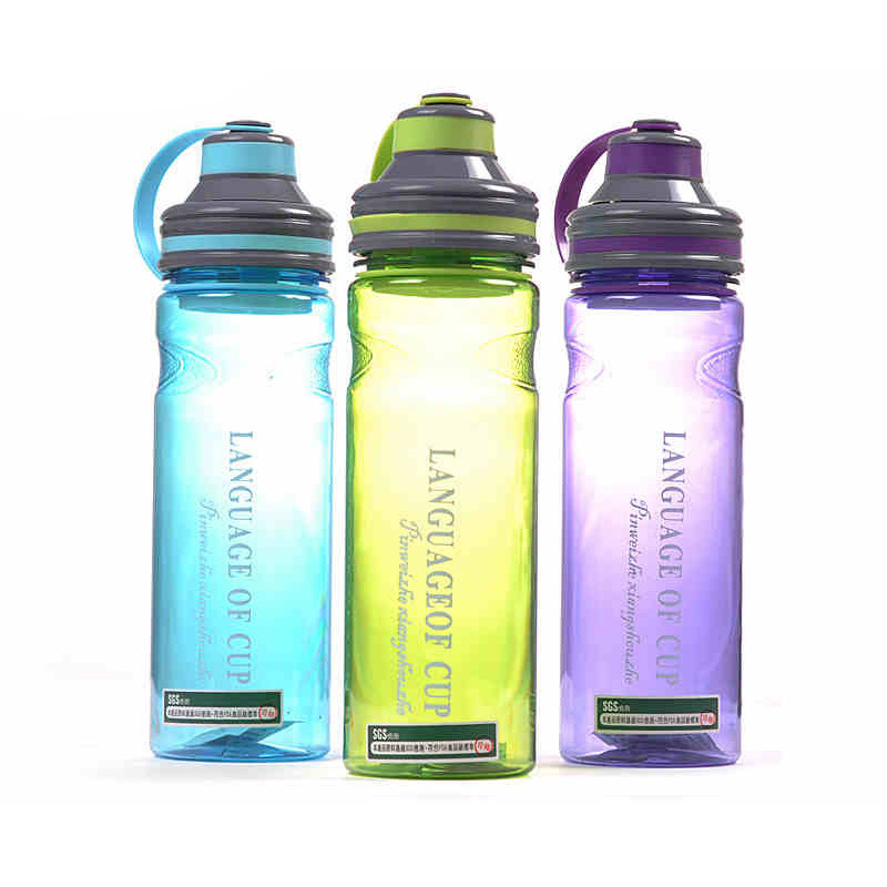 600ml/800ml/1000ml Space Plastic Water Bottle With Rope Tea Fruit Infuser Shake Outdoor Camping Sport Large Capacity Bottles neck support travel pillow