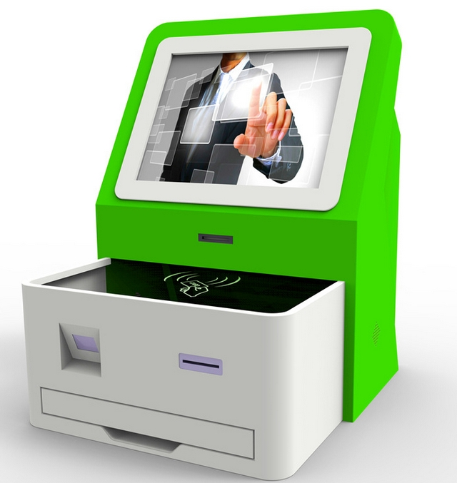 19incn 21.5inch Self-service Terminal Vending Machine With PC Built In And Printer Bank Cash Money Payment Kiosks Money Counter