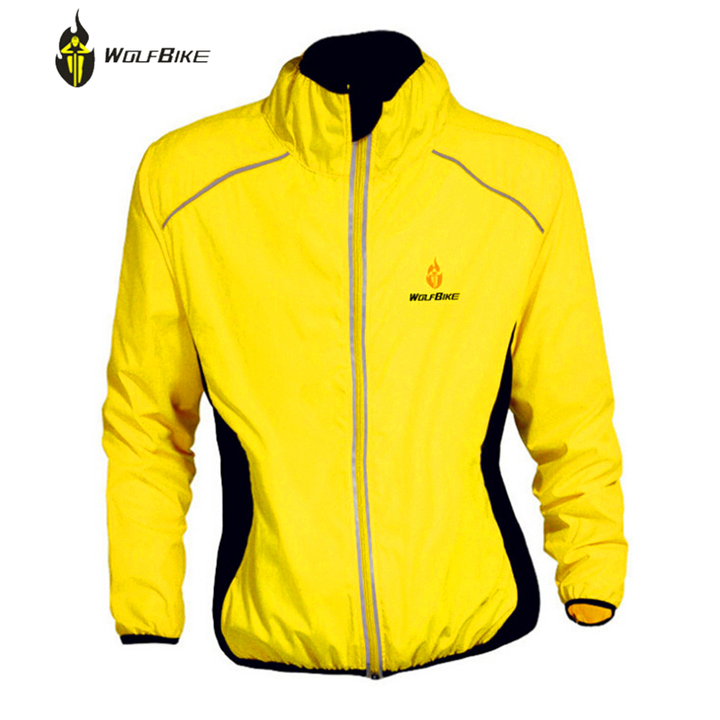WOLFBIKE Windproof Bicycle Jackets Bicicleta Ciclismo Maillot Men Sportswear Jersey Dust Rain Coat MTB Cycling Raincoat Clothing