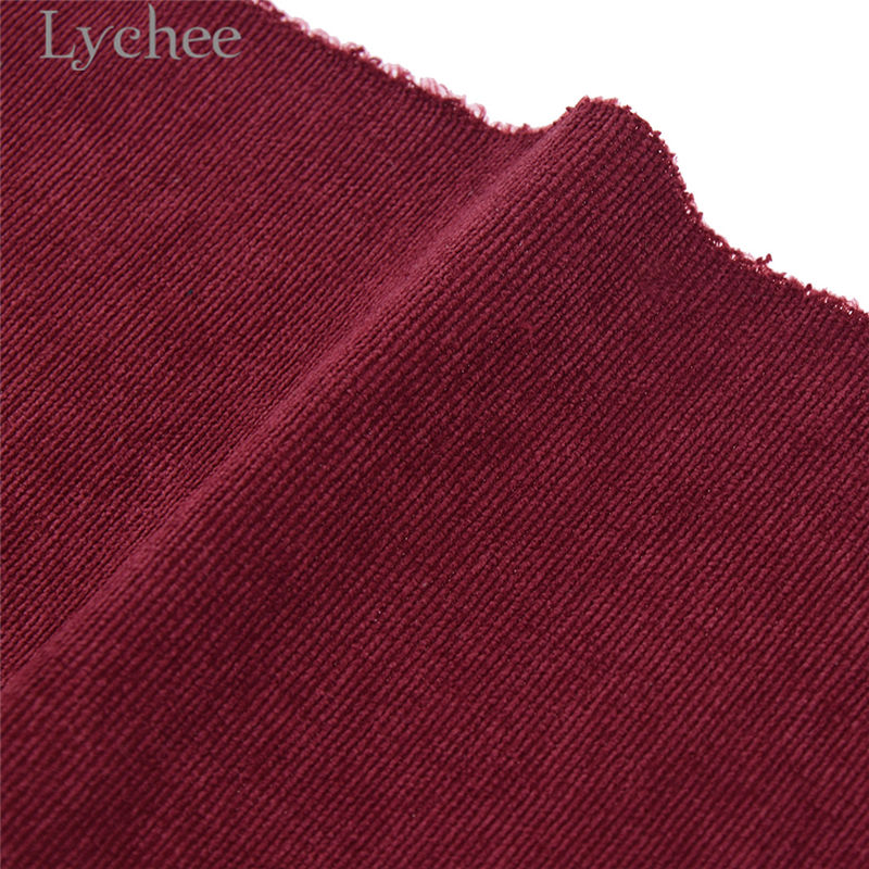 Lychee A4 Embossed Stripes Velvet Fabric Soft Sewing Fabric for Hair Accessories DIY Sewing Crafts Materials 10