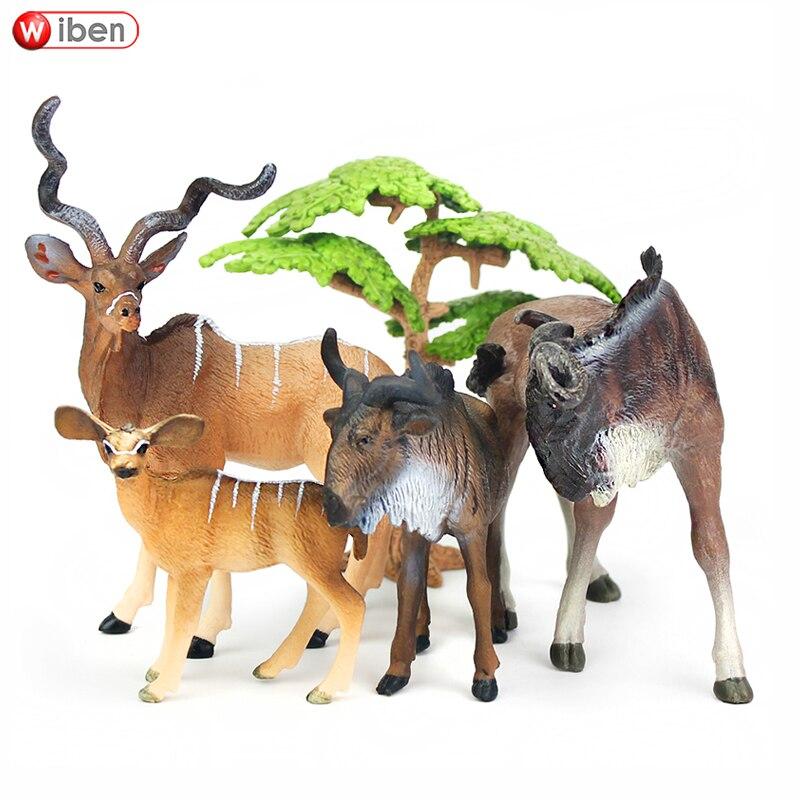 Wiben Zoo Kudu Gnu della fauna selvatica Africana di Simulazione Modello Animale Action Figures e Giocattoli giocattoli per i bambini Educativi del GiocattoloWiben Zoo Kudu Gnu della fauna selvatica Africana di Simulazione Modello Animale Action Figures e Giocattoli giocattoli per i bambini Educativi del Giocattolo