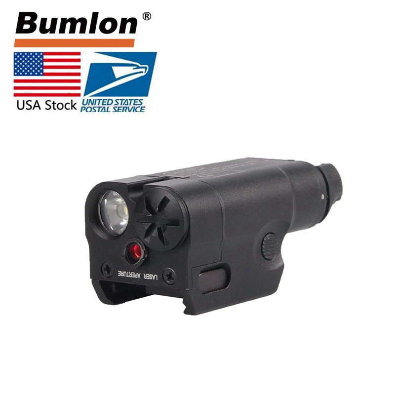 Tactical Hunting Airsoft High Lumen XC2 Flashlight Pistol MINI Light With Red Dot Military Airsoft Hunting Flashlight RL8-0013