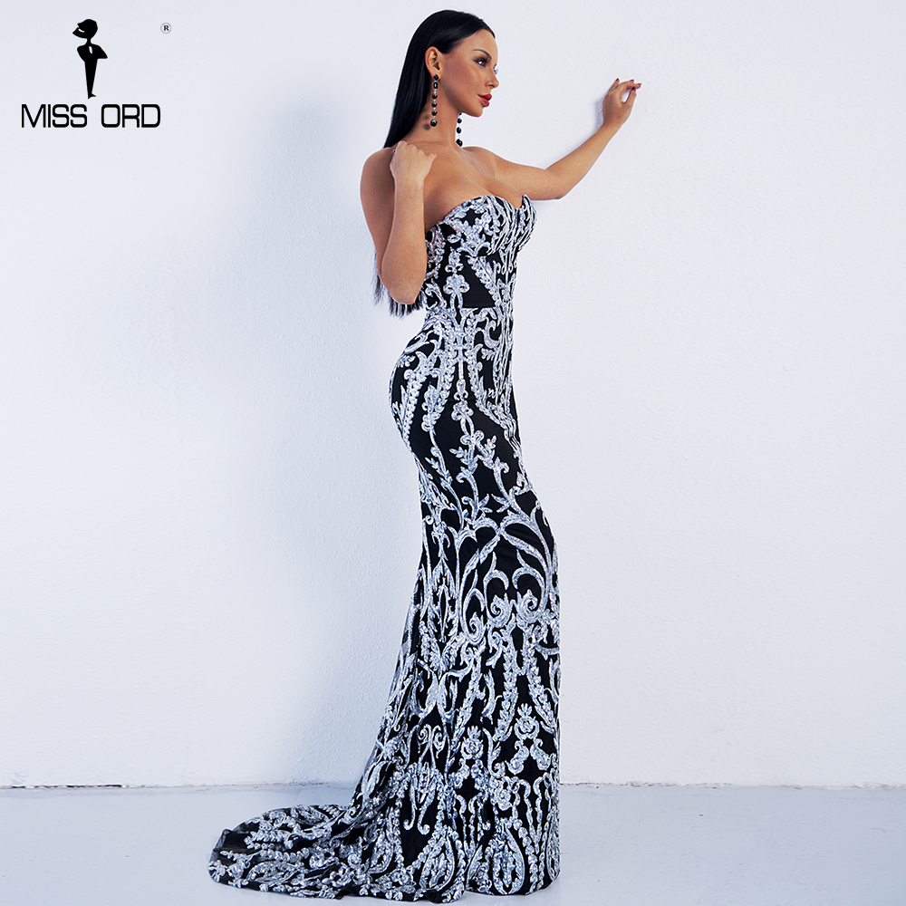 8fbb430a7e6 Missord 2019 Sexy Off Shoulder Retro Geometry Sequin Female Dresses Maxi  Party Elegant Reflective Dress Vestdios FT8888 2-in Dresses from Women s  Clothing ...