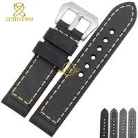 Genuine Leather Bracelet Watch Strap Handmade Watchband Mens Wristwatches Band Retro Style 20 22mm 24mm 26mm