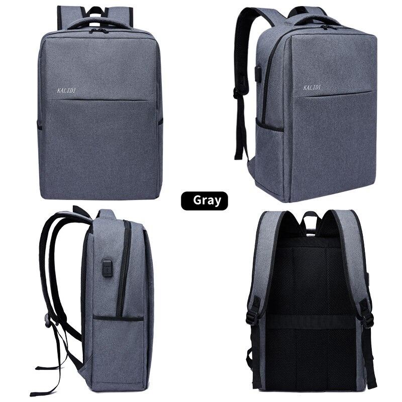 KALIDI mode décontracté sacs à dos d'ordinateur portable hommes toile 15.6 pouces sac à dos voyage pour adolescent mâle sacs d'école 17.3 pouces sacs à dos - 3