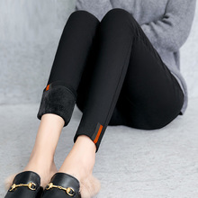 High Quality Black Velvet Leggings Women Winter Thick Fleece Warm Casual Pants
