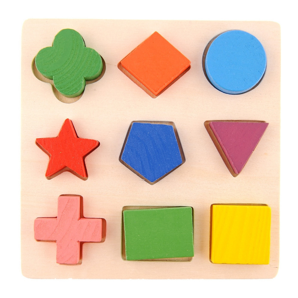 Kids Baby Kawaii Wooden Stacking Building Puzzle Toys Early Learning Educational Brain Training 3D Puzzles Gifts Toy Play Jigsaw