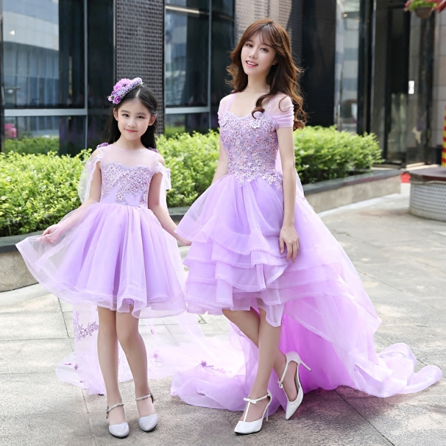 934426105d Girls Princess Party Dresses 12 13 Years Old Mother Daughter Dresses for  Wedding Clothes Elegant Ball Gowns Floor Length Dresses