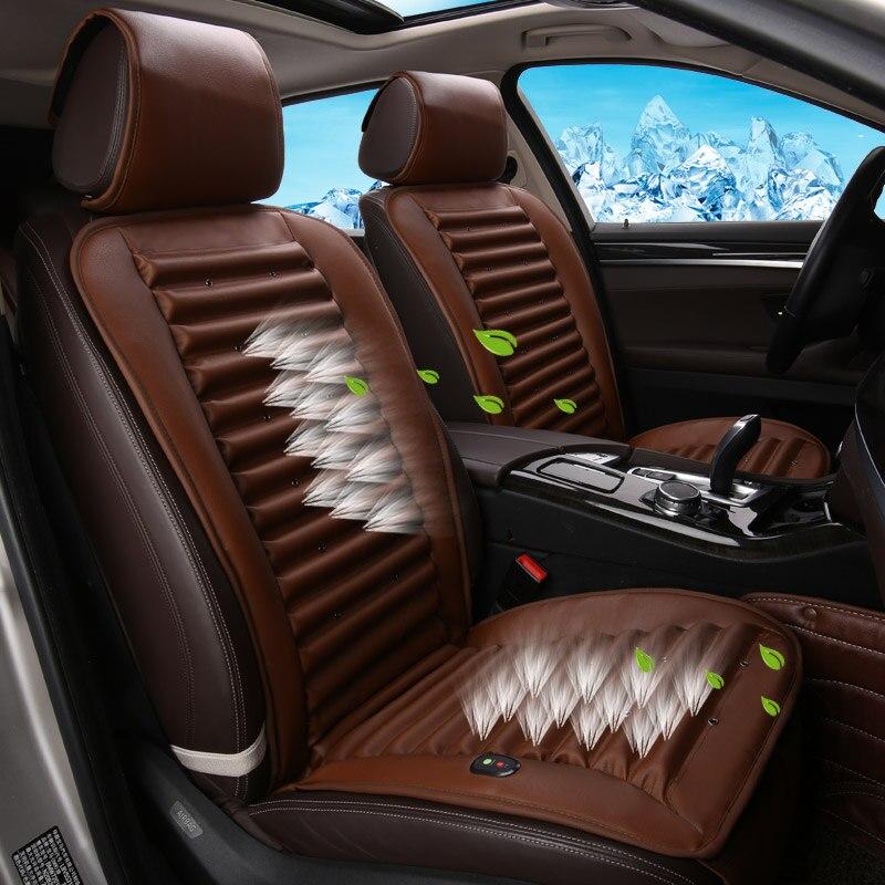 Cold Air Circulation Built In Fan Cushion Ventilation Car Seat Cover For Audi A1 A3 A4