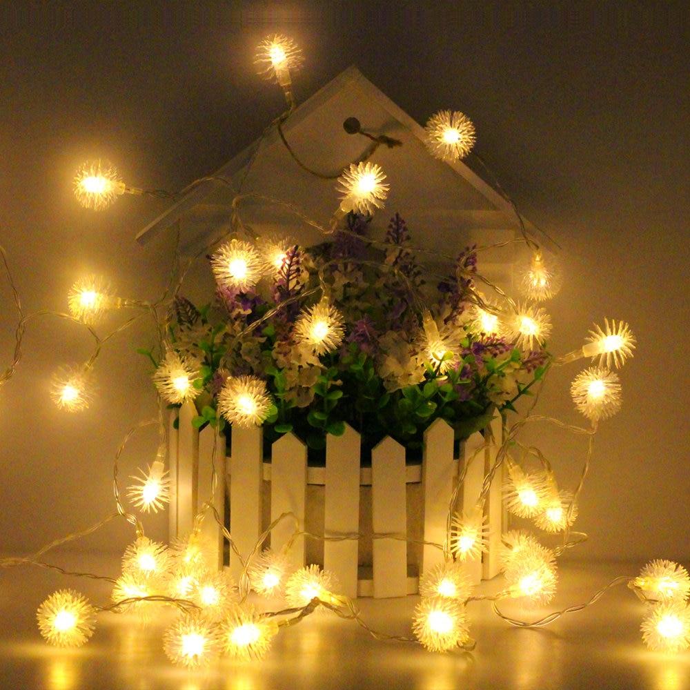Фугу мяч светодиодный Рождество строки AC 220 В/Батарея коробка/USB 5 В Новый год гирлянды Крытый украшения ...