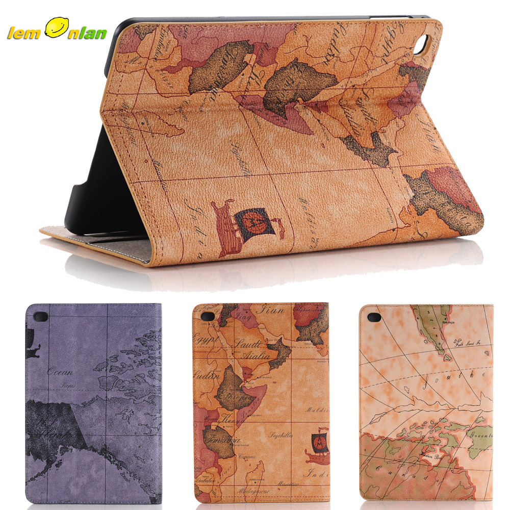 Luxury World Map Pattern for Apple iPad Pro Leather Stand Cover Case Card Holder Tab Shell ,For Apple Pro Tablet Case 12.9 inch