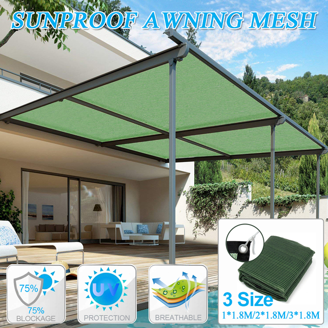 US $11.74 16% OFF|1Pcs Green Sun Shade Sail UV Block Fabric Canopy Square  for Patio Garden Swimming Pool Foldable Sun Shade-in Shade Sails & Nets  from ...
