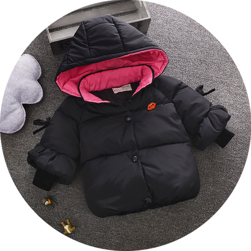 New Children Cotton-padded Jacket Baby Girls winter Coats coat Hat girl's warm Baby jacket Winter Outerwear Thick girl clothing fashion children s long jacket fur collar padded jacket duck down baby boy girls winter thick warm new children s clothing 2 7t page 4