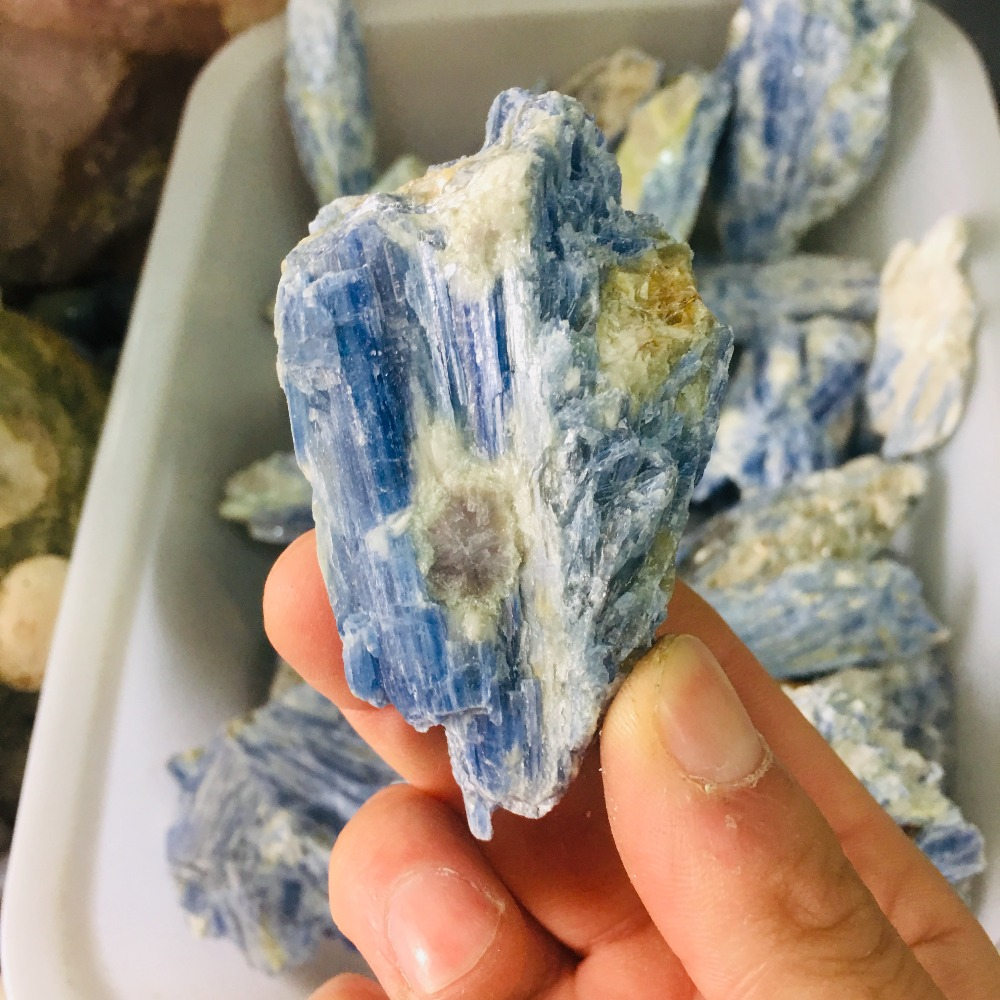 Natural crystal mineral blue ore in Stones from Home Garden
