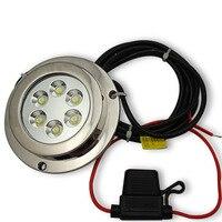 Высокая Мощность подводный свет 12 Вт светодиодный морской катер лампа для яхт IP68 Водонепроницаемый 12 В LED свет