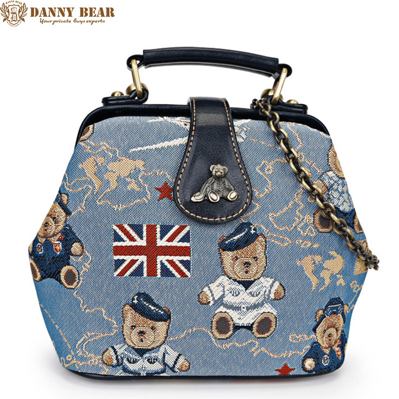 DANNY BEAR Women Shoulder Messenger Bags Korean Style Small Crossbody Bags Ladies Mini Tote Bag Vintage Female Handbags bolsas 2015 women cute bow candy color handbags ladies messenger shoulder crossbody bags mini small quilted chain bags bolsas ba048