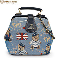 DANNY BEAR 2017 Hot Sale Blue White Korean Style Small Crossbody Bags For Shopping And Holiday