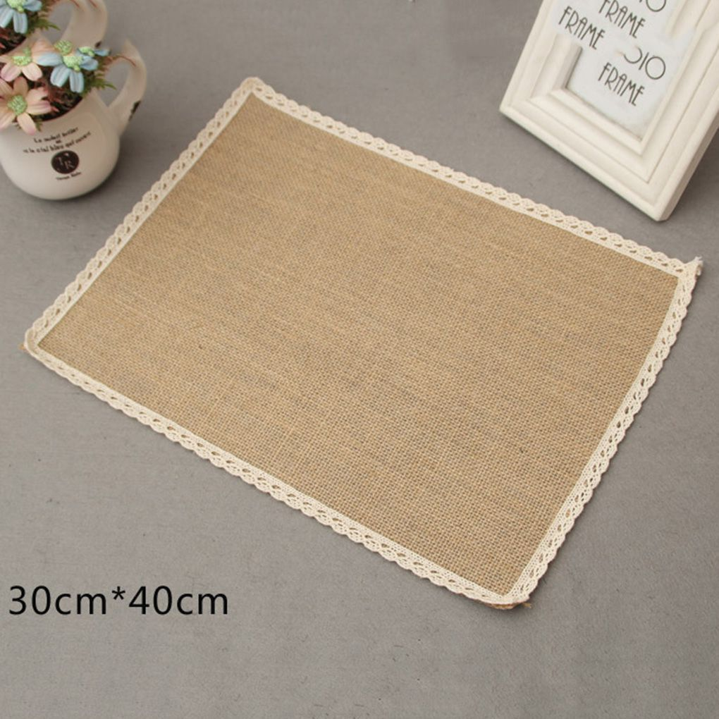 Enjoying ^-^ Store Creative Drink Coasters Linen Cup Drink Coasters Linen Bowl Pad