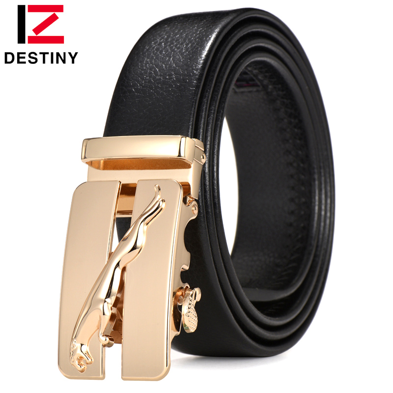 DESTINY 2017 Designer Belts Men High Quality Male Strap Genuine Pu Leather Luxury Design Famous Brand Gold Silver Ceinture Homme