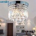 Moderne Circular Transparent Kristall 220V E14 1 & 3 Kopf Lampe LED Decke Licht für Wohnzimmer/Esszimmer zimmer/Korridor/Eingang-in Deckenleuchten aus Licht & Beleuchtung bei