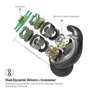 Image 3 - SoundPEATS Engine Bluetooth 5.0 bezprzewodowe słuchawki z pałąkiem na kark podwójne dynamiczne sterowniki słuchawki douszne Mic IPX6 wodoodporne 18hrs czas odtwarzania