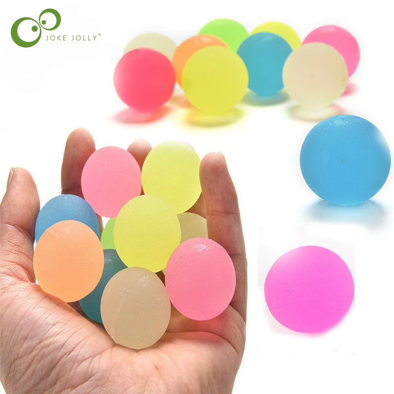 10pcs Colored Bouncing Rubber Balls Children Toy Boy