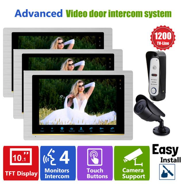 """Homefong 10 """"TFT Videoportero Monitor y Cámaras 1200TVL (CCTV Cámara Timbre) Video Portero Home Portero sistema"""