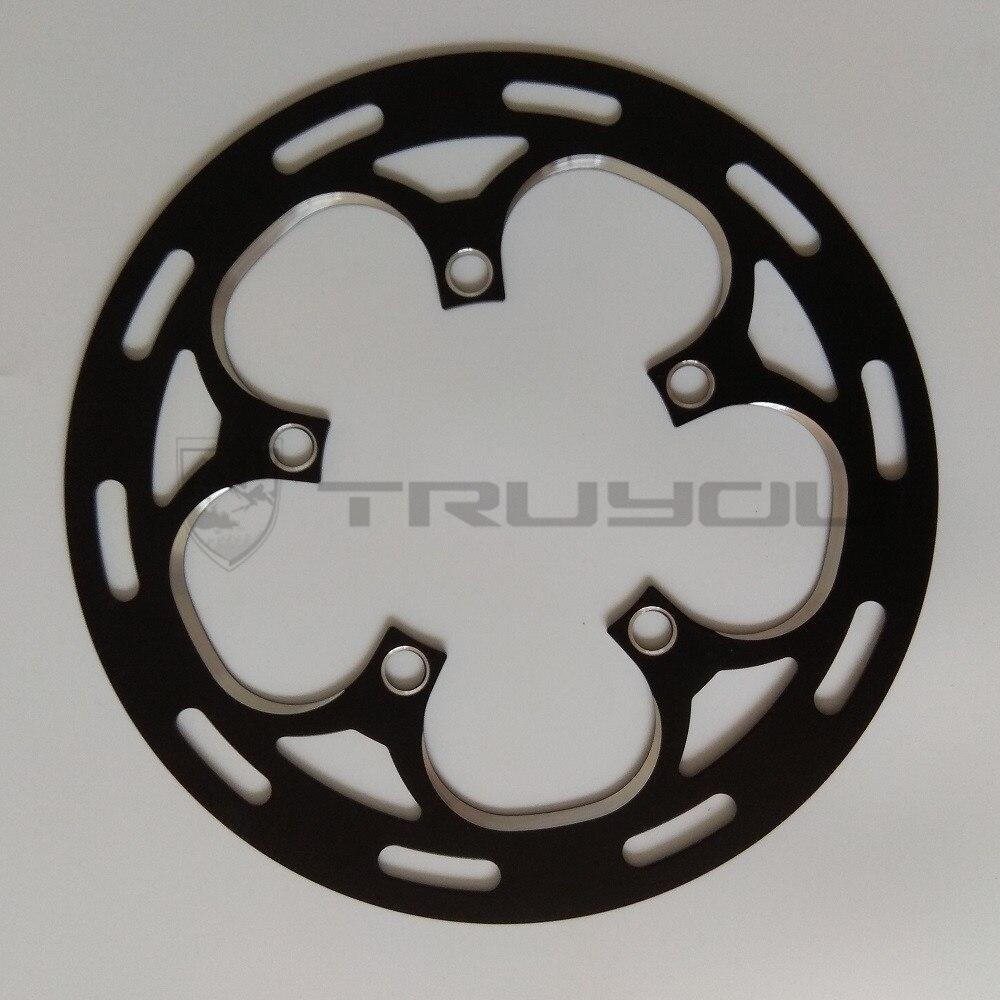 170mm black Folding Bike Single STRIDA alloy chain wheel and crankset