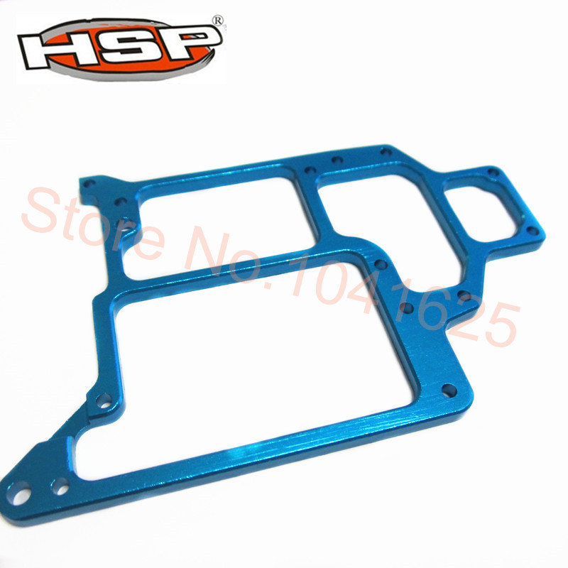 HSP 188065 Upgrade Parts For 1:10 RC Car Spare Parts Aluminum Radio Tray Off Road Monster Truck 94188 Blue hsp upgrade parts accessories for 1 10 off road 4wd monster bigfoot truck 94188 monster nitro power rc car cnc free shipping