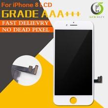 10 pièces/lot parfait 3D tactile AAA écran tactile noir ou blanc pour iPhone 8 LCD remplacement assemblée livraison gratuite DHL