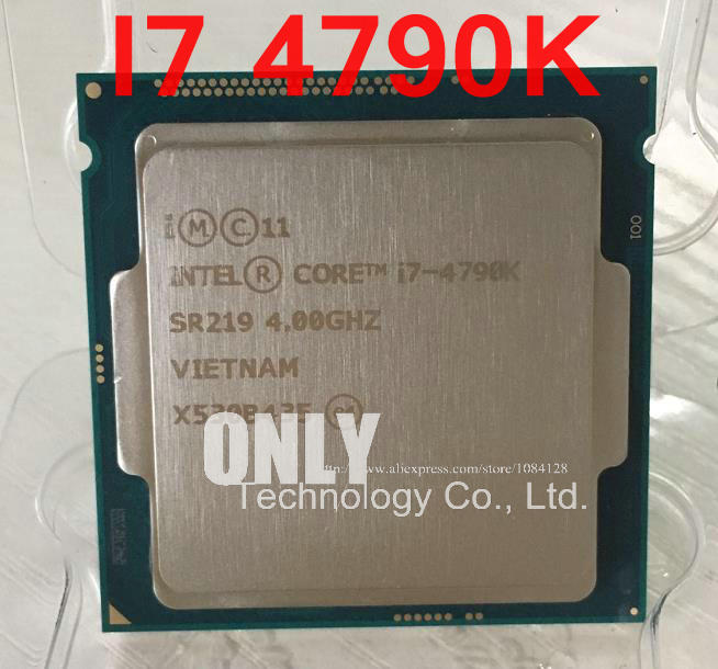 US $200 0 |Free Shipping intel i7 4790K i7 4790K(4 0GHz/8MB /4 cores  /Socket 1150/5 GT/s)Quad Core Desktop CPU-in CPUs from Computer & Office on
