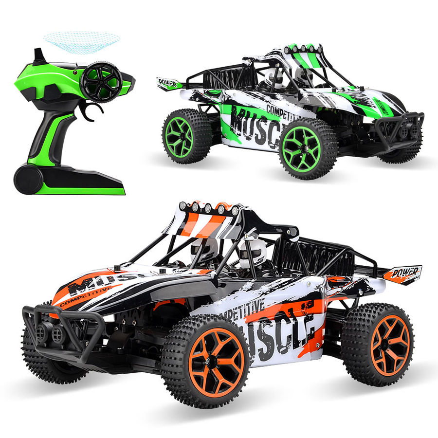 Hot sell  Remote Control RC Truggy Truck Buggy 1:18 Scale 4 Wheel Drive 4WD Electric crash resistant high-speed off-road rc car high quality g18 2 1 18 2 4g four wheel drive high speed off road remote control car children boy kid gift collection toys hot
