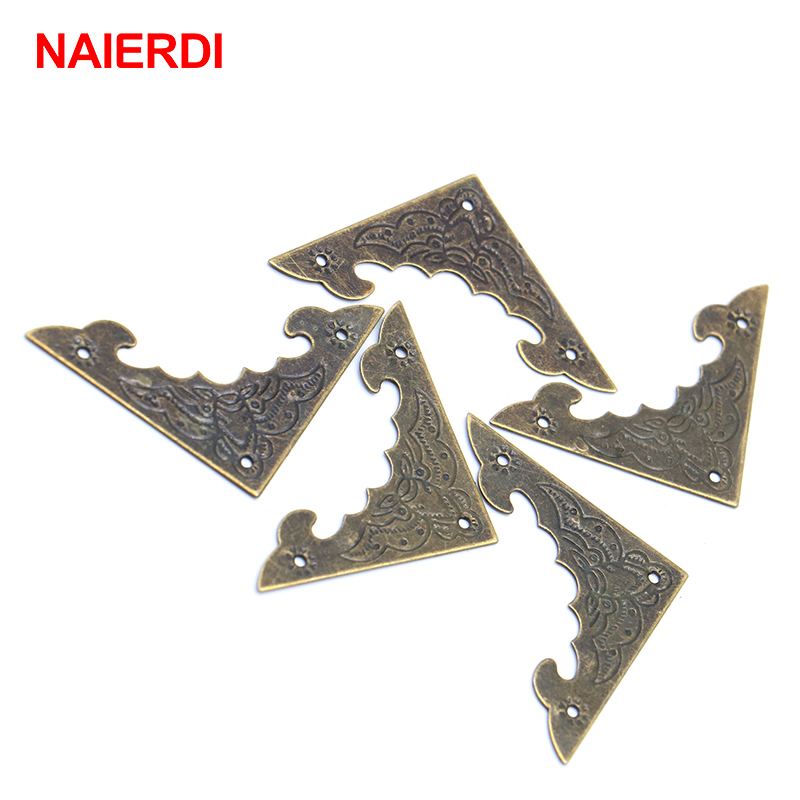 50PCS NAIERDI Bat Pattern Jewelry Box Book Scrapbook Album Antique Frame Accessories Notebook Menus Corner Decorative