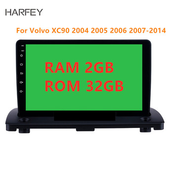 Harfey Android 8.1 9 inch Car GPS Multimedia Player for Volvo XC90 2004 2005 2006 2007-2014 support WIFI SWC Mirror link image