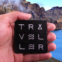Pulaqi Art Wanderer Traveler Iron On Patches Explore The Nature  DIY Clothes Patch For Accessories Badge Applique F