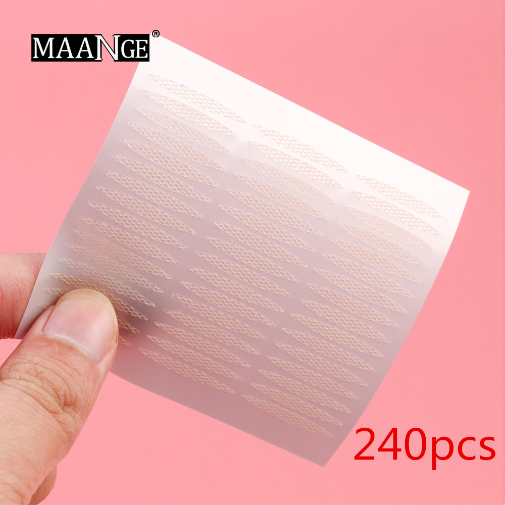 MAANGE 240pcs/lot 3D Double Sided Invisible Invisible Eyelid Paste Big Eye Decoration Strong Sticker Self-adhesive Eye Tape Tool